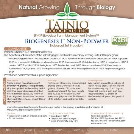 BioGenesis 1 Non-Polymer Label