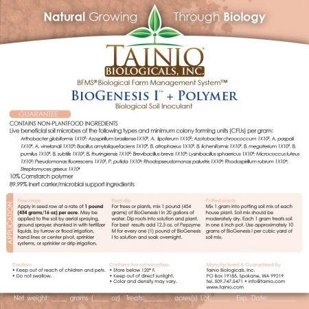 BioGenesis 1 - Polymer label