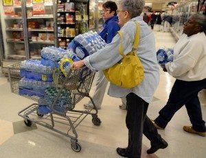 buying bottled water