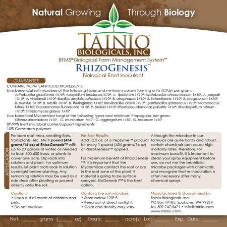 RhizoGenesis Product label