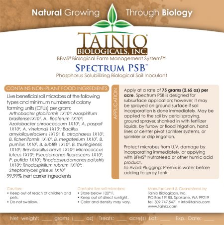 Spectrum PSB Product Label