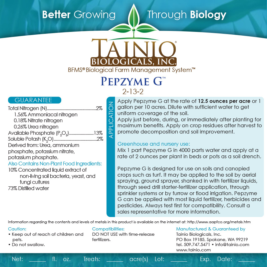Pepzyme G - Stable Enzyme Biostimulant